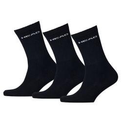 3PACK Ponožky HEAD crew černé