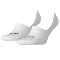 2PACK ponožky HEAD footie bílé