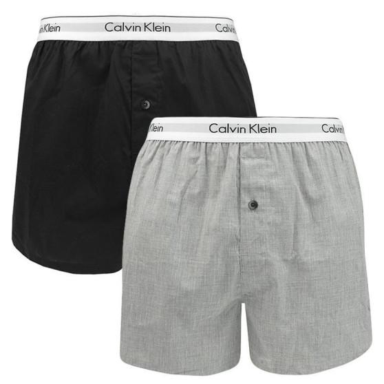2PACK pánské trenky Calvin Klein vícebarevné (NB1396A-BHY)