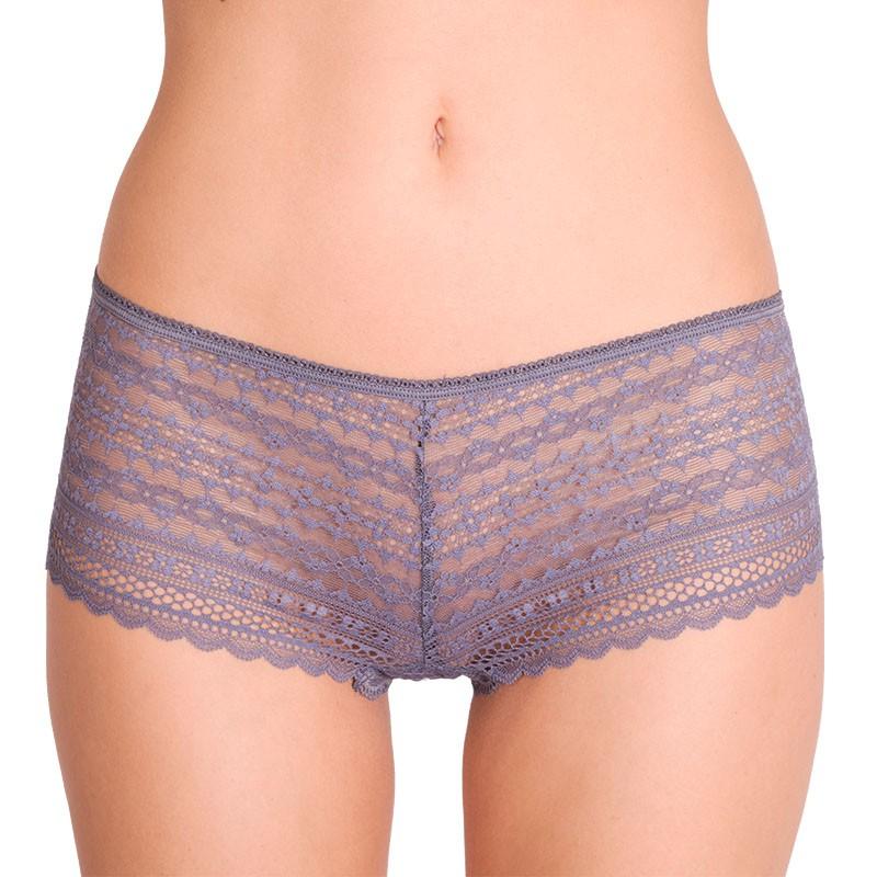 Dámské kalhotky Victoria's Secret shortie šedé S