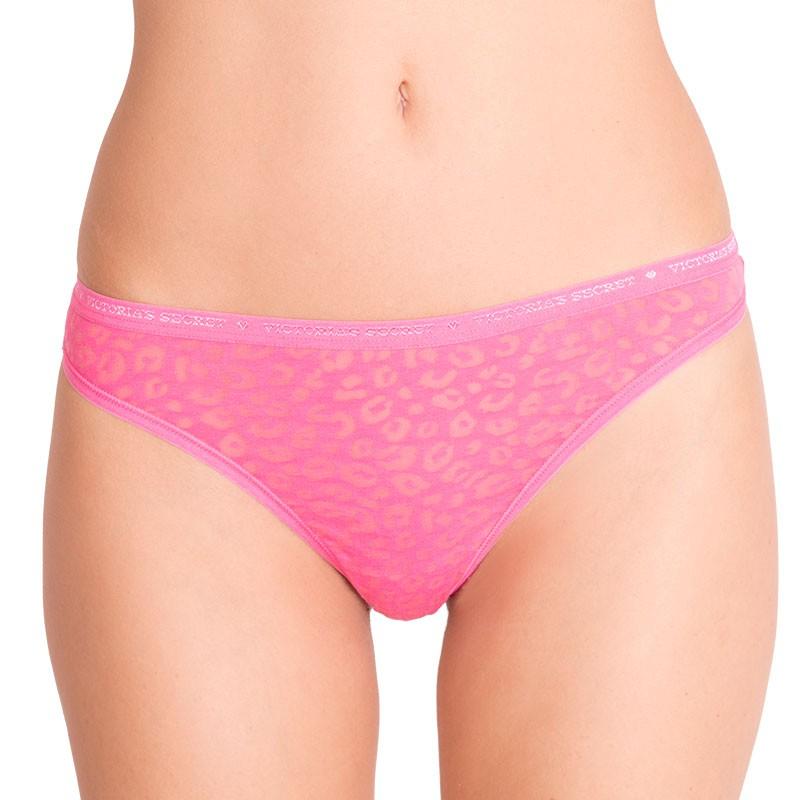 Dámská tanga Victoria's Secret růžové tygrované S