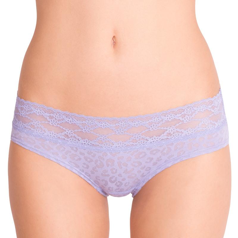 Dámské kalhotky Victoria's Secret hiphugger tygrované fialové S