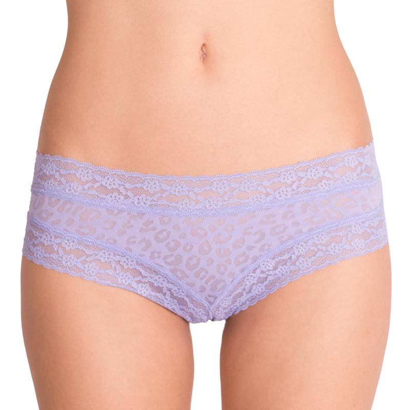 Dámské kalhotky Victoria's Secret cheeky fialové tygrované L