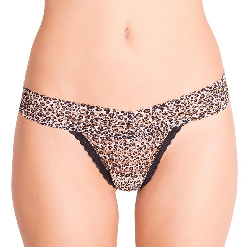 Dámská tanga Victoria's Secret krajkové tygrované S