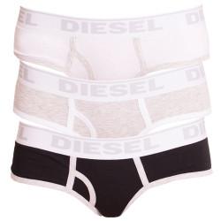 3PACK dámské kalhotky Diesel oxy panties černo šedo bílé