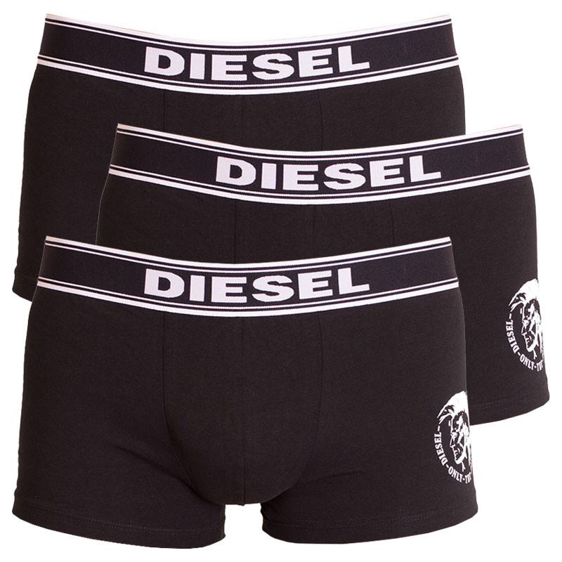 3PACK Pánské Boxerky Diesel černé M