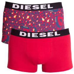 2PACK pánské boxerky Diesel modro červené kapky