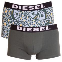 2PACK pánské boxerky Diesel modro zelené kapky