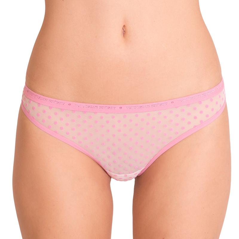 Dámská tanga Victoria's Secret růžové tečky S