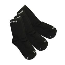 3PACK ponožky Horsefeathers delete socks černé