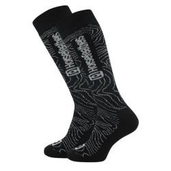 Ponožky Horsefeathers ayden thermolite black contour