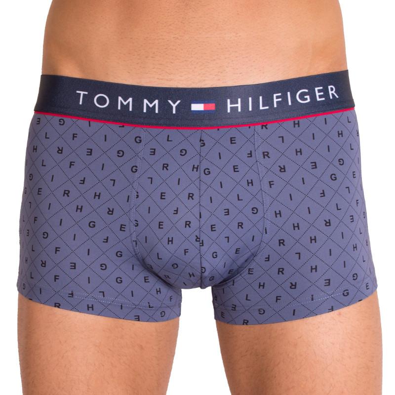 Pánské boxerky Tommy Hilfiger trunk logo argyle vintage indigo M