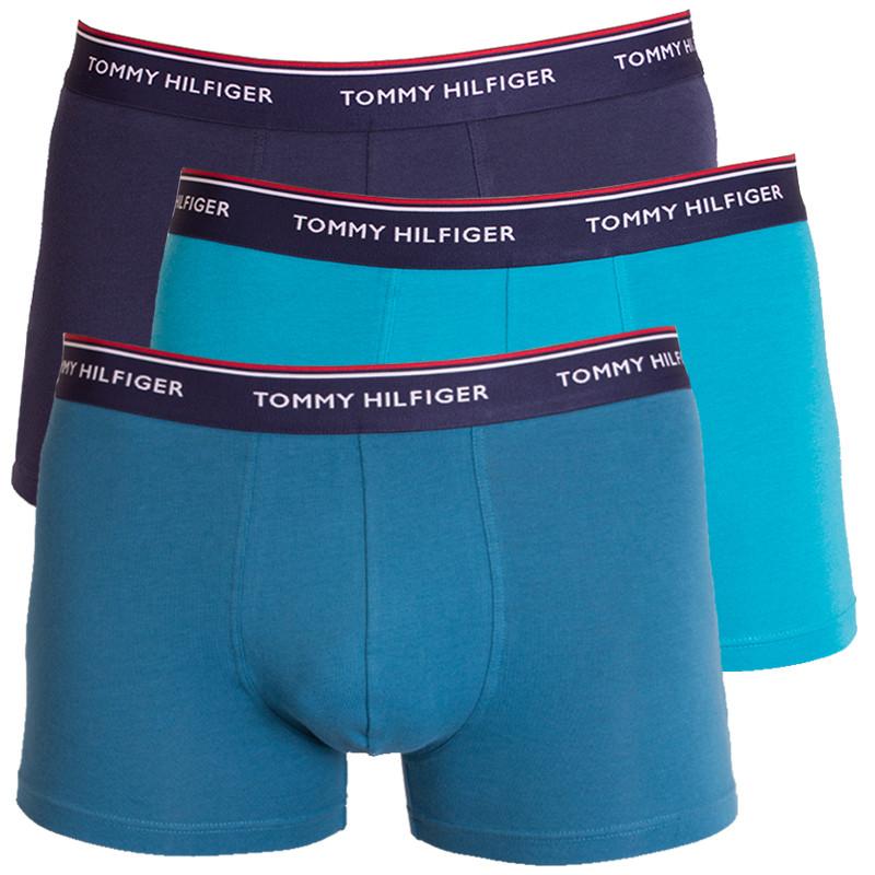 3PACK pánské boxerky Tommy Hilfiger trunk modré