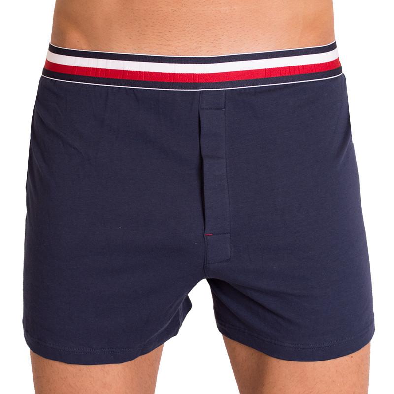 Pánské trenýrky Tommy Hilfiger modern stripe jersey boxer tmavě modré