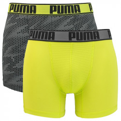 2PACK pánské boxerky Puma active cellar camo grey yellow