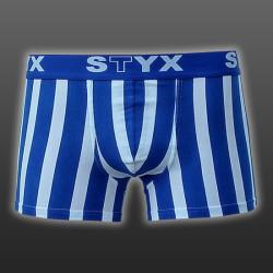 Pánské Boxerky Styx sport biggie modro bílé proužky