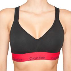 Dámská sportovní podprsenka Calvin Klein modern cotton lift černo červená
