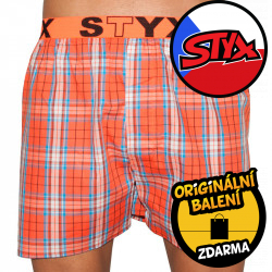 Pánské trenky Styx sportovní guma vícebarevné (B519)