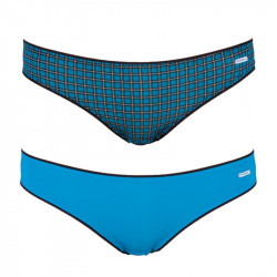 2PACK Dámské Kalhotky Diesel Bonitas Mutande Blue Plaid