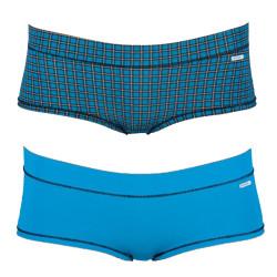 2PACK Dámské Kalhotky Diesel Celebriti Mutande Blue Plaid