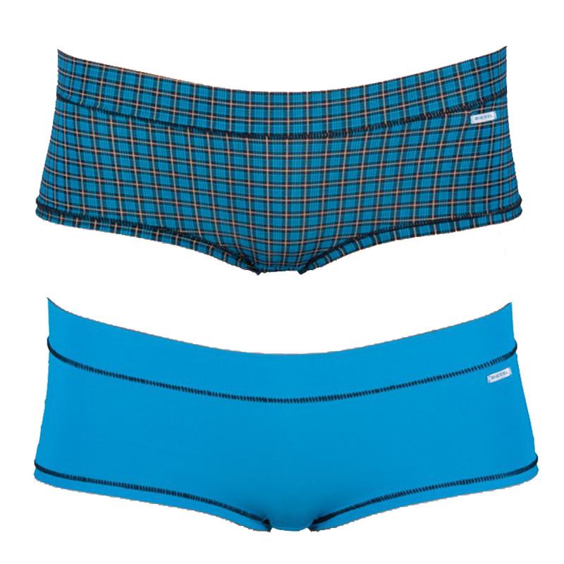 2PACK Dámské Kalhotky Diesel Celebriti Mutande Blue Plaid L