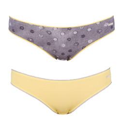 2PACK Dámské Kalhotky Diesel Bonitas Mutande Yellow