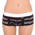 Dámské kalhotky Calvin Klein Heritage Logo boyshort černé