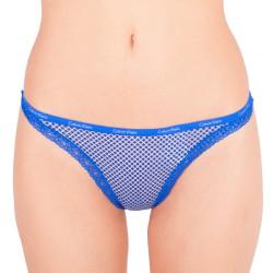 Dámská tanga Calvin Klein modrá (D3445E-DGS)