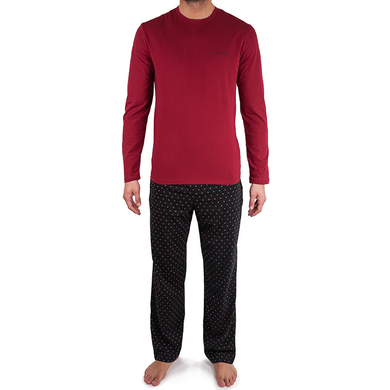Pánské pyžamo Calvin Klein černo červené M