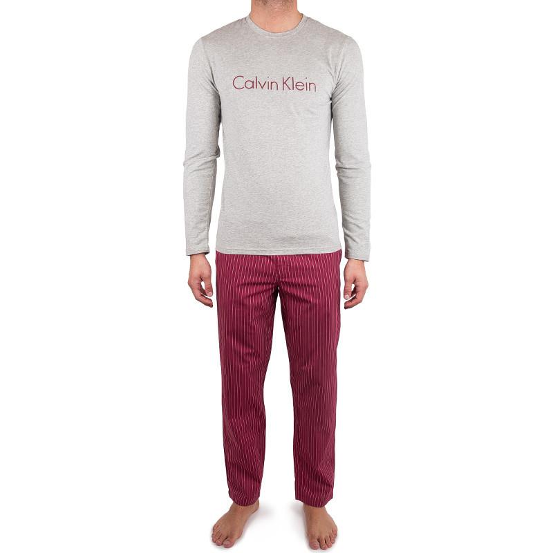 Pánské pyžamo Calvin Klein šedo červené M