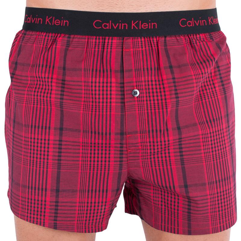Pánské trenýrky Calvin Klein slim fit červené L