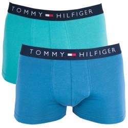 2PACK pánské boxerky Tommy Hilfiger trunk modro zelenkavé