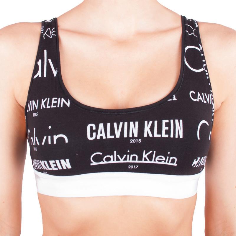 Dámská sportovní podprsenka Calvin Klein Heritage Logo Lightly Lined černá S