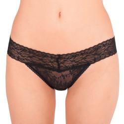Dámské kalhotky Calvin Klein bikini černé s krajkou