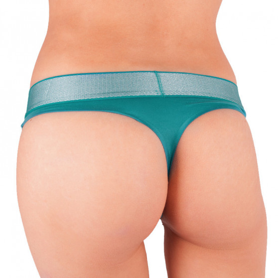 Dámská tanga Calvin Klein zelená (QF4054E-1MZ)