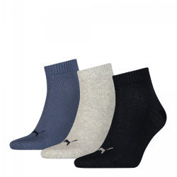 3PACK ponožky Puma navy grey nightshadow blue