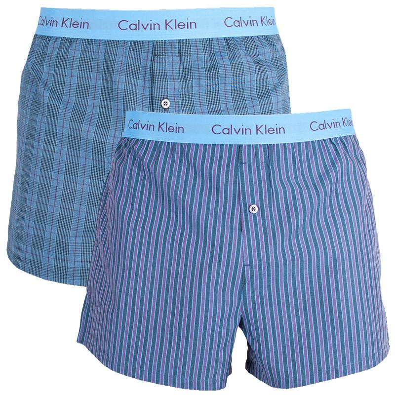 2PACK pánské trenýrky Calvin Klein modré M