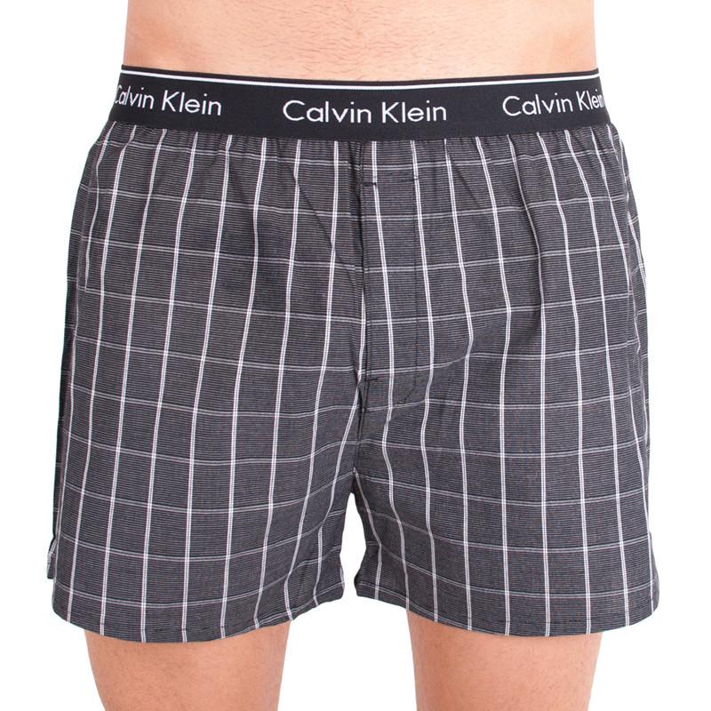 Pánské trenýrky Calvin Klein classic fit tmavá kostka M