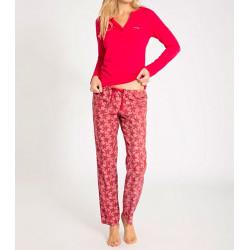 Dámské pyžamo Calvin Klein smetanové s černými hvězdičkami