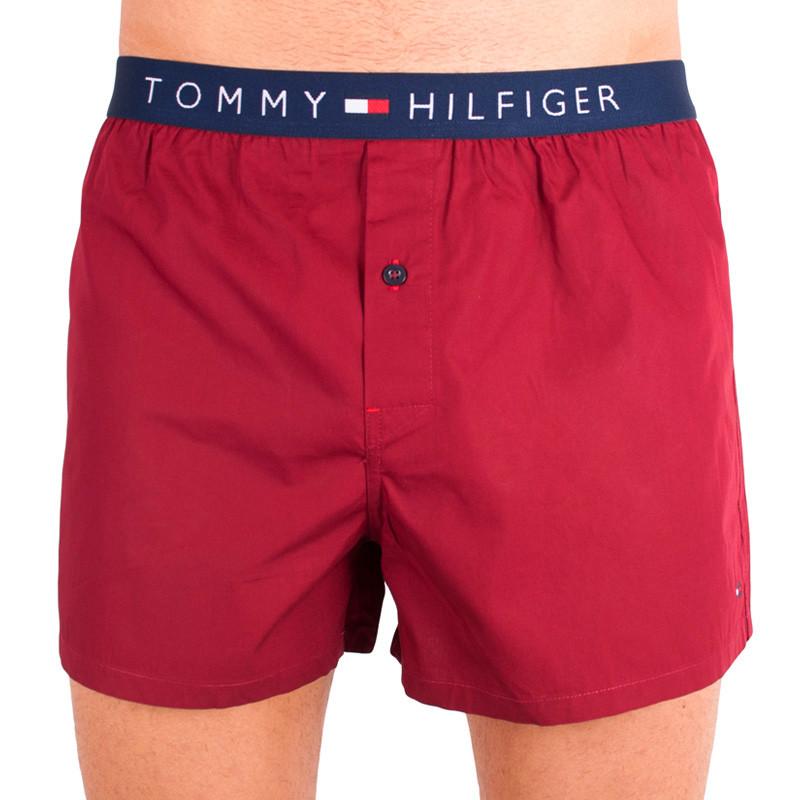 Pánské trenýrky Tommy Hilfiger woven boxer cabernet M