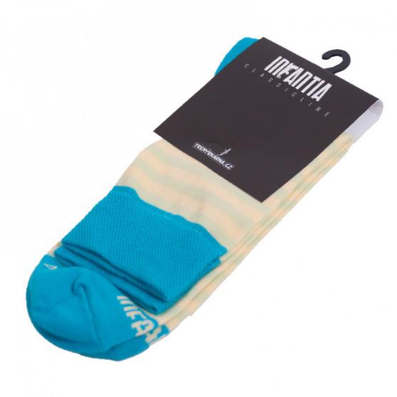 Ponožky Infantia Classicline světle modro žluté proužky