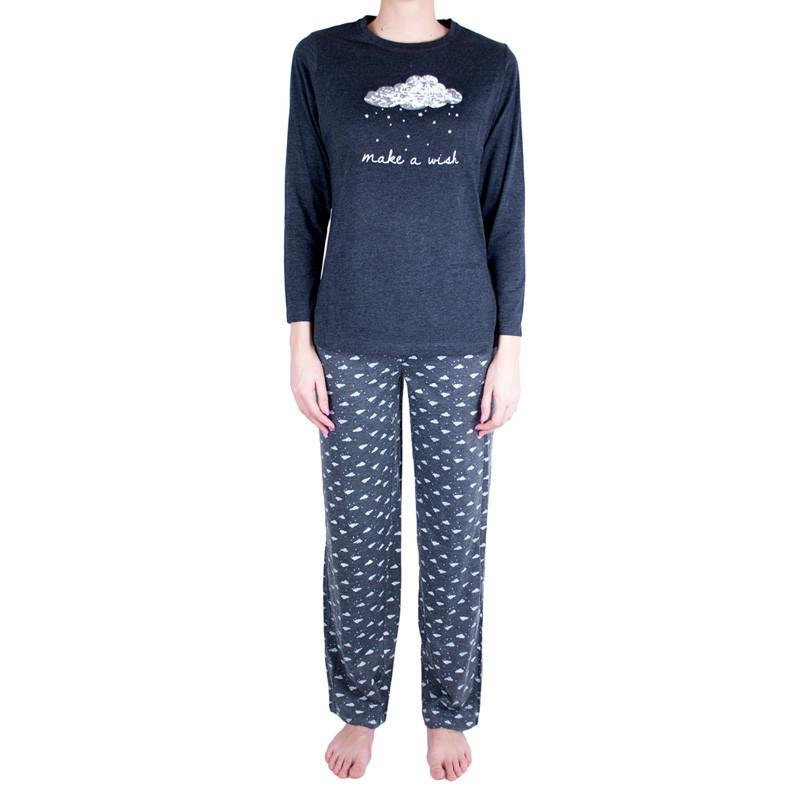 Dámské pyžamo Molvy šedé make a wish M