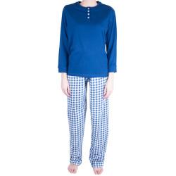 Dámské pyžamo Molvy modré s kostkami