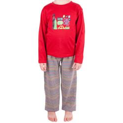 Chlapecké pyžamo Molvy červené se šedými kalhotami