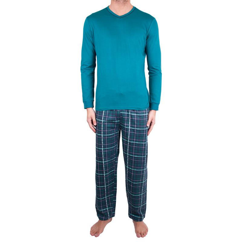 Pánské dlouhé pyžamo Molvy tmavě zelené