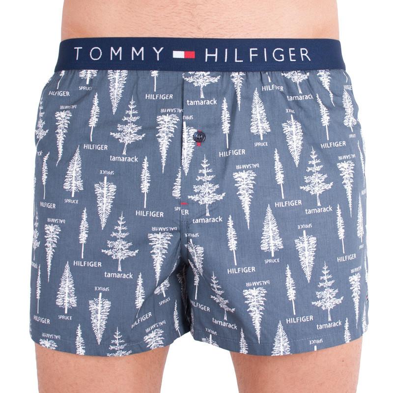 Pánské trenýrky Tommy Hilfiger woven boxer holiday blue nights M