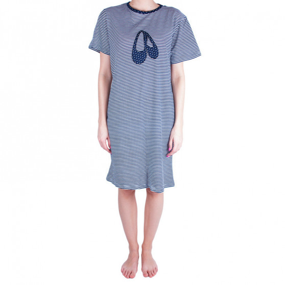 Dámská noční košile Molvy modré s proužky