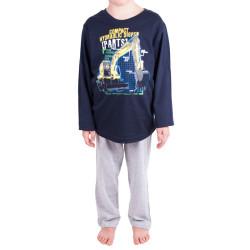 Chlapecké pyžamo Molvy modré s bagrem