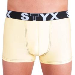 Pánské boxerky Styx sportovní guma světle žluté (G5)
