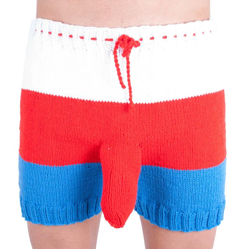Ručně pletené trenky Infantia tricolora uni